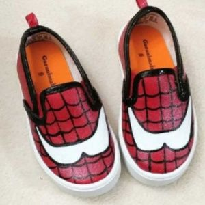 Other - Hand Painted Spiderman Shoes